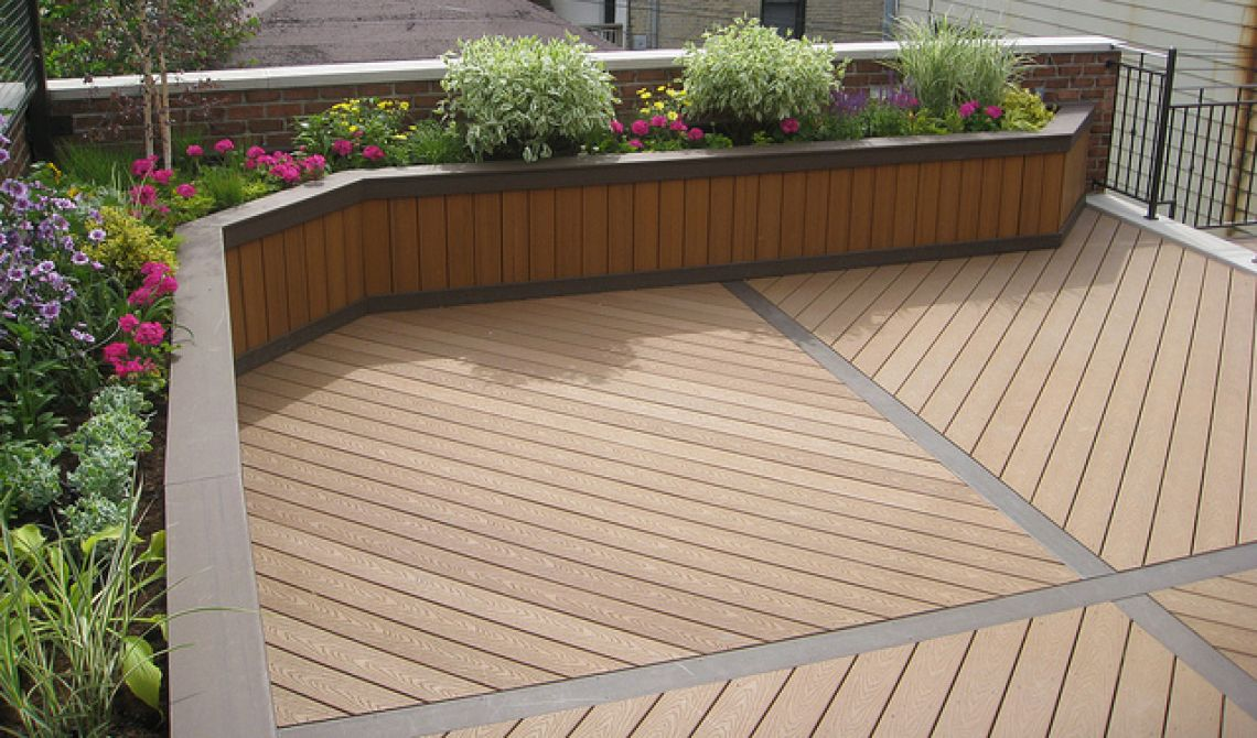 Deck Flower Boxes Modern Planter Box Using Trex Planting Decking And Planters Intended For 9